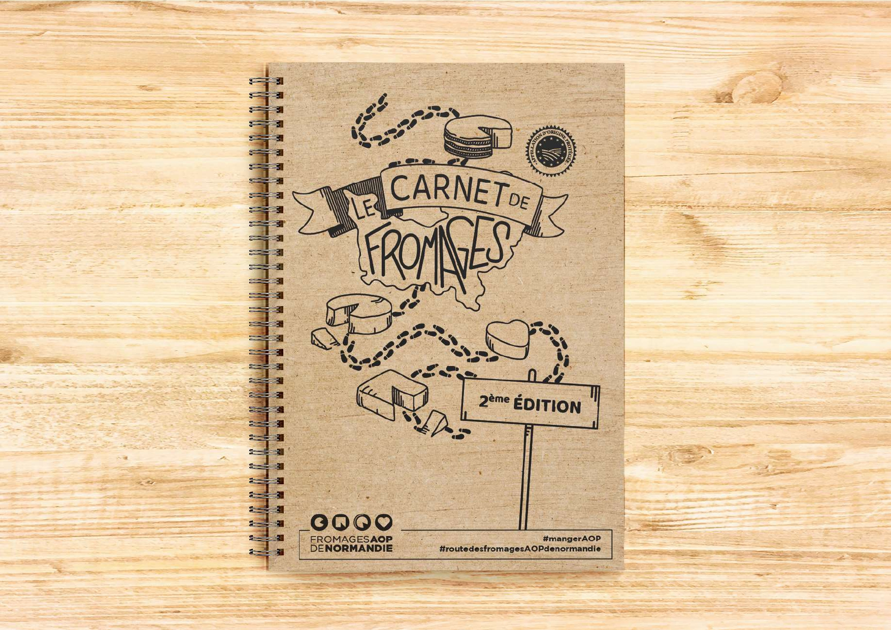 Couverture carnet fromages 2021